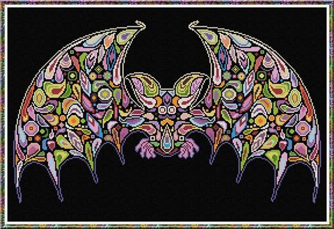 Primary image for Happy Bat halloween cross stitch chart Alessandra Adelaide Needlework