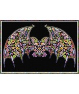 Happy Bat halloween cross stitch chart Alessandra Adelaide Needlework - $17.10