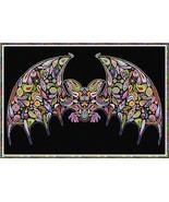 Happy Bat halloween cross stitch chart Alessandra Adelaide Needlework - $17.10