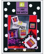 I Am The Witch halloween cross stitch chart Amy Bruecken Designs - $7.20