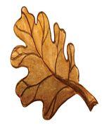 Harvest Festival Brown Oak Leaf-Digital Download-ClipArt-ArtClip-Digital... - $4.00