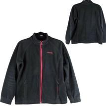 Columbia kids girls fleece jacket size XL 18-20 full zip black (F-2) - $16.72