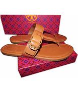 Tory Burch Marsden Flat Thongs Sandals Tan Leather Shoe Flip Flops 8.5 T... - $129.00