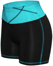 Women's W Sport Two Tone Athletic Work Out Fitness Stretch Gym Shorts AP-4815 image 6