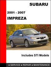 Details About  Subaru Impreza 2001   2007 Factory Service Repair Manual Access  - $14.95