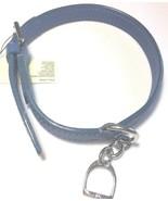 Ralph Lauren Blue Leather Dog Collar One Size - $107.39