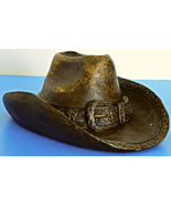 Vintage Rustic Style Western Cowboy/Cowgirl Hat Bank Home Decor - $25.00