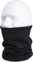 Black Grid Polar Fleece Neck Warmer Gaitor Military Cold Weather ECWCS C... - $7.99