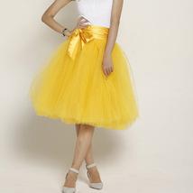 Peach Ballerina Tulle Skirt 6 Layered Midi Party Tulle Skirt image 6