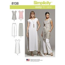 Simplicity Creative Sewing Pattern S0683 / 8138 Misses' Easy-to-Sew Tuni... - $5.64