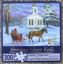 Lighting the Way Silver Foil Bits & Pieces Jigsaw Puzzle 300 Pieces Comp... - $15.00