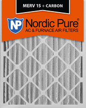 Nordic Pure 20x25x4 (3 5/8) Pleated Air Filters MERV 15 Plus Carbon 1 Pack - $54.31