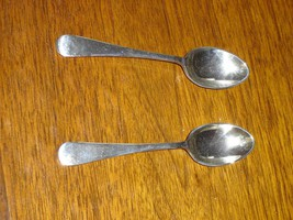 Pair of vintage silverplate demitasse spoons VGU - $19.99