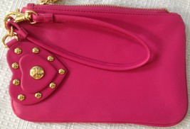 Torry  Burch Fashion Design Clutch Purse, Leather, Pink  image 8