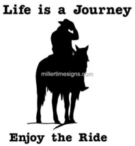 "LARGE 10"" LIFE A JOURNEY Horse Cowboy Trail Rider Decal Car Truck Window... - $12.00"