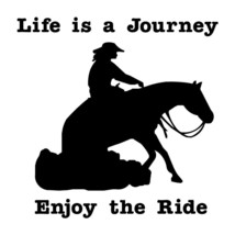 "LARGE 10"" LIFE A JOURNEY Horse REINING Lady Rider Decal Car Truck Window... - $12.00"