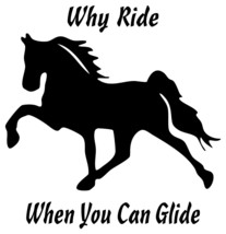 "LARGE 10"" TWH Why Ride Glide Walker Horse Decal Truck Window Trailer Car... - $12.00"