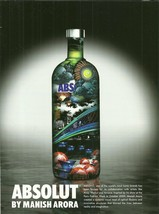 ABSOLUT BY MANISH ARORA Vodka Magazine Ad from India RARE! - $9.99