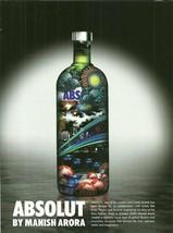 ABSOLUT BY MANISH ARORA Vodka Magazine Ad from India RARE! - $9.99