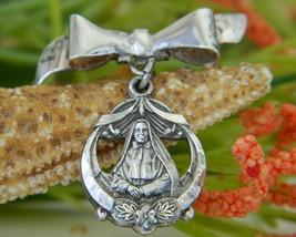 Vintage Saint Francis Xavier Cabrini Sterling Pendant Brooch Pin - $19.95