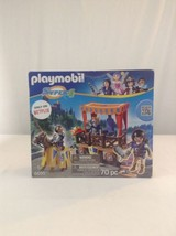 New Playmobil Super 4 6695 Royal Tribune Knights King 70 Piece Building Toy - $40.19