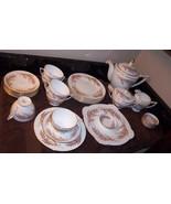 MINTON Bedford 30 pieces: Teapot, Cups, Serve Plate, Plates, Mini Bowls,... - $261.00