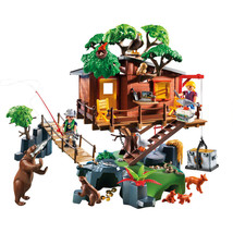 Adventure Tree House Toys Blocks Building Sets Grass Platforms Action Fi... - $400.00