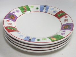 """4 Oneida Holiday Surprise Casual Settings Luncheon Dinne Plates 10""""  Bundle of 4 - $21.34"""