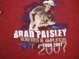 Brad Paisley 2007 Bonfires and Amplifiers Concert Tour T Shirt M - $7.91