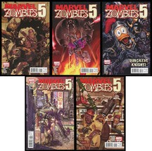 Marvel Zombies 5 Comic Set 1-2-3-4-5 War of the Worlds Machine Man Howard Duck - $30.00