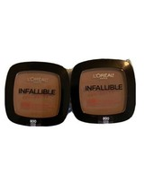 2 L'Oreal Infallible Pro-Matte 16Hr Foundation Pressed Powder #800 Cocoa - $19.80