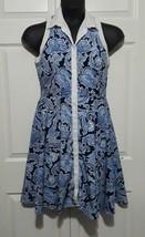 Ann Taylor Shirt Dress Button-down Sleeveless Blue Paisley Women Size 8 ... - $17.62