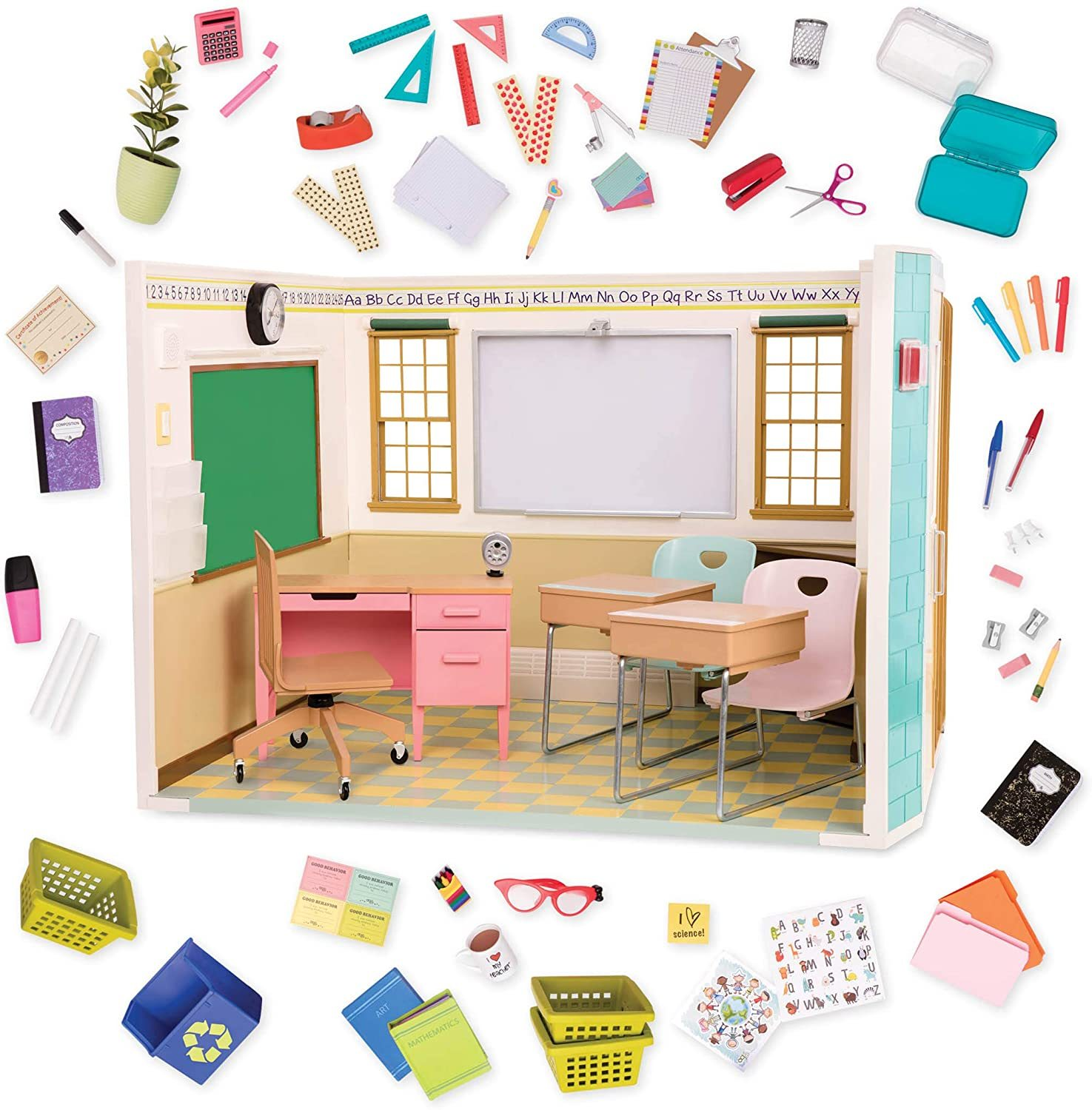 "Primary image for Our Generation Awesome Academy School Set - 76Piece Set, Compatible with 18"" Dol"
