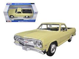 1965 Chevrolet El Camino Yellow 1/25 Diecast Model Car by Maisto - $44.35