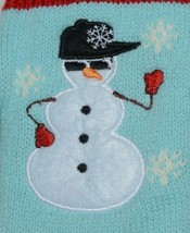 DMM Uncle Bobs XSweat Ugly Knitted Bottle Sweater Light Blue With Snowman image 2