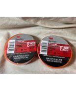 (2) Rolls of 3M Temflex Vinyl Electrical Tape Orange 1700C Flame Retarda... - $9.89