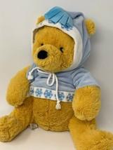 """Disney Store Plush Nordic Winnie Pooh in Snowflake Hoodie 12"""" Soft Stuff... - $12.86"""