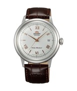 Orient Bambino FAC00008W automatic men's watch leather band white dial - $149.00