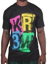 KR3W Krew Cali Mens Ransom Stencil Logo Print Regular Black T-Shirt K52677 NWT