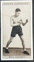 1928 Ogden's Pugilists in Action #24 phil lolosky  Boxing Card   - $3.91