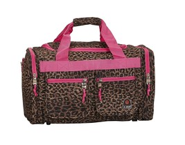 19Inch Luggage Tote Bag Leopard Suitcase Duffle Travel Carry on Baggage ... - $19.07