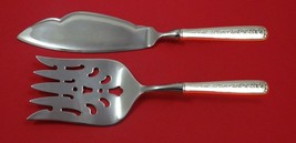Rambler Rose by Towle Sterling Silver Fish Serving Set 2 Piece Custom Made HHWS - $141.55