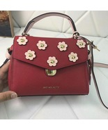 Michael Kors Bristol Small Floral Appliqué Leather Satchel - $170.00