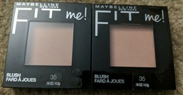Lot of 2 Maybelline New York Fit Me Blush #35 CORAL - $9.49