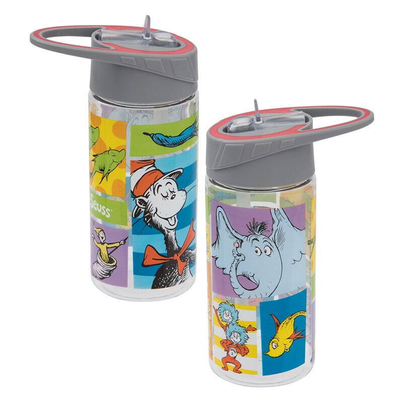 Primary image for Dr. Seuss Characters Art Images 14 oz Tritan Plastic Travel Water Bottle NEW