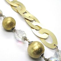 SILVER 925 NECKLACE, YELLOW, DROP AGATE WHITE BIG, OVALS SATIN image 5