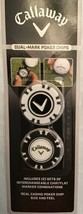 "Lot of 10 Callaway Golf-Dual Mark Poker Chips W/ ""Magnetic Ball Marker""S... - $39.55"