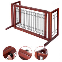 NEW! Dog Gate Fench Solid Wood Construction Indoor  - $68.54