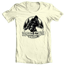 Sasquatch T-shirt Big Foot Guys funny novelty graphic printed 100% cotton tee image 1