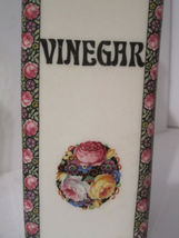 Vintage Art Nouveau Flowered Oil and Vinegar Cruets Made in Czechoslovakia image 9